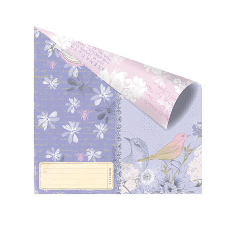 Prima - Meadow Lark Collection - 12 x 12 Double Sided Paper - Bronte