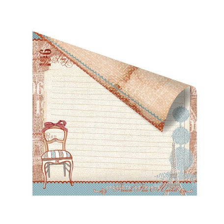 Prima - En Francais Collection - 12 x 12 Double Sided Paper - La Chaise