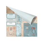 Prima - En Francais Collection - 12 x 12 Double Sided Paper - Billettes