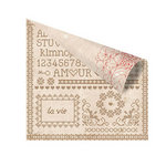 Prima - En Francais Collection - 12 x 12 Double Sided Paper - Sampleur