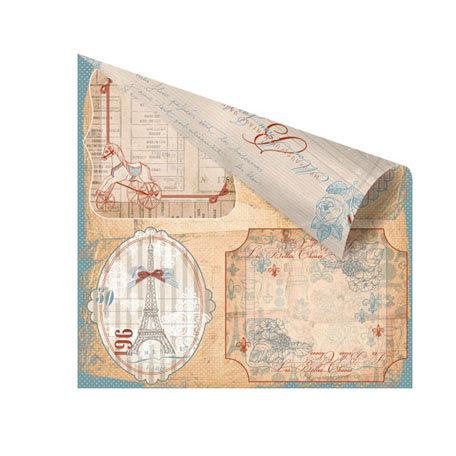 Prima - En Francais Collection - 12 x 12 Double Sided Paper - Vignette