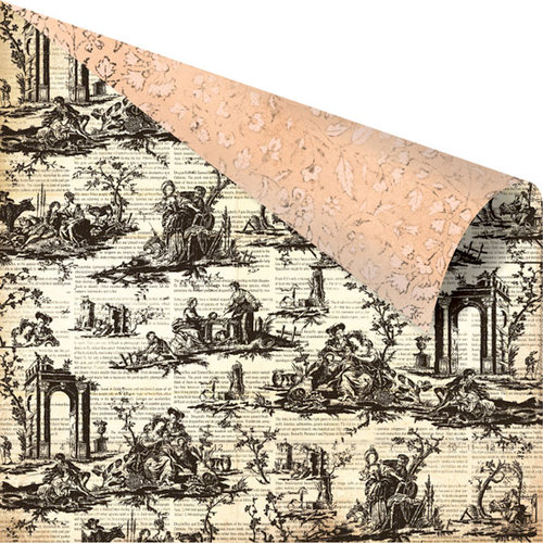Prima - Almanac Collection - 12 x 12 Double Sided Paper - Toile