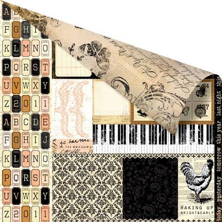 Prima - Almanac Collection - 12 x 12 Double Sided Paper - Libre