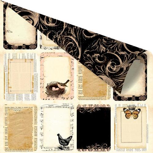 Prima - Almanac Collection - 12 x 12 Double Sided Paper - Agenda