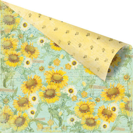 Prima - Sun Kiss Collection - 12 x 12 Double Sided Paper - Sweet Tea