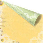 Prima - Sun Kiss Collection - 12 x 12 Double Sided Paper - Lemon Ginger