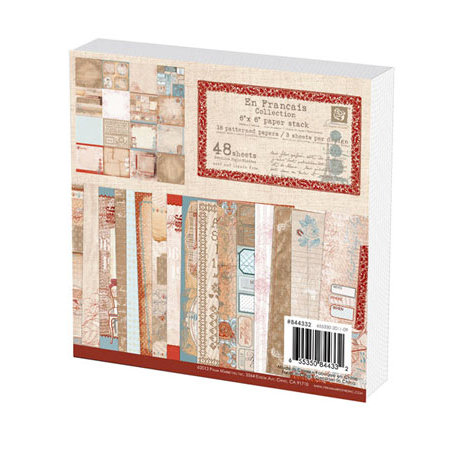 Prima - En Francais Collection - 6 x 6 Paper Pad