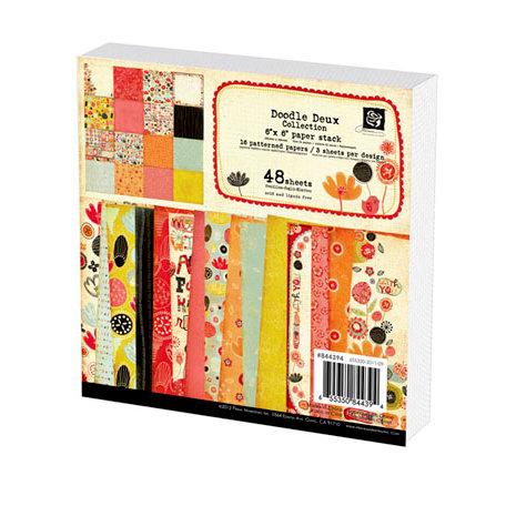 Prima - Doodle-Deux Collection - 6 x 6 Paper Pad