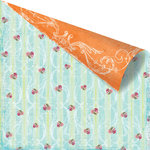 Prima - Zephyr Collection - 12 x 12 Double Sided Paper - Celeste