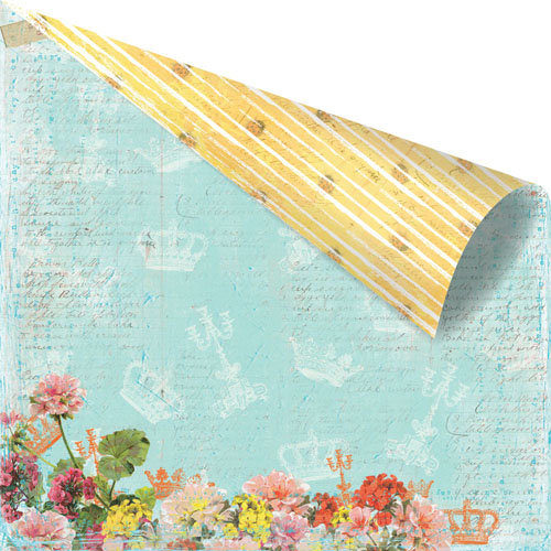 Prima - Zephyr Collection - 12 x 12 Double Sided Paper - Tempore