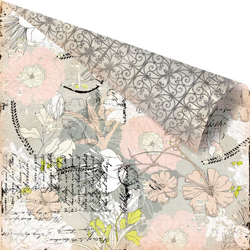 Prima - Rondelle Collection - 12 x 12 Double Sided Paper - Gavotte