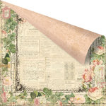 Prima - Tea-Thyme Collection - 12 x 12 Double Sided Paper - Charmuse