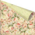 Prima - Tea-Thyme Collection - 12 x 12 Double Sided Paper - Challis