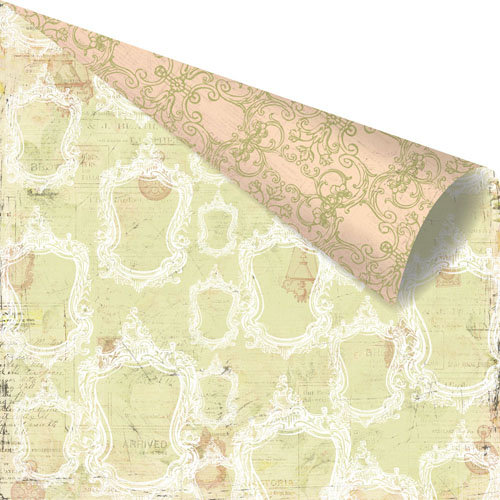 Prima - Tea-Thyme Collection - 12 x 12 Double Sided Paper - Cloque