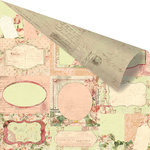 Prima - Tea-Thyme Collection - 12 x 12 Double Sided Paper - Kersey