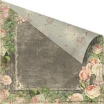 Prima - Tea-Thyme Collection - 12 x 12 Double Sided Paper - Cypress Rose