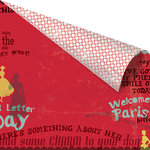 Prima - Welcome to Paris Collection - 12 x 12 Double Sided Paper - Something About Her