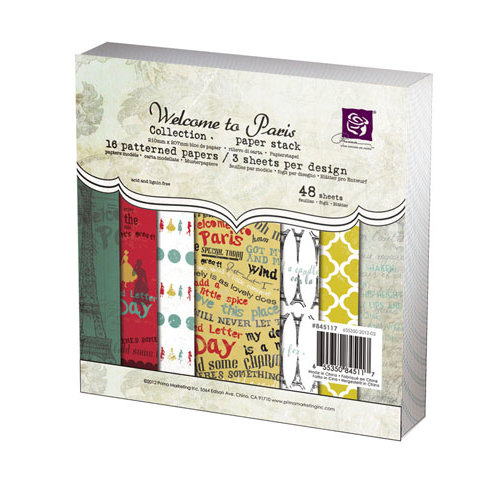 Prima - Welcome to Paris Collection - 6 x 6 Paper Pad