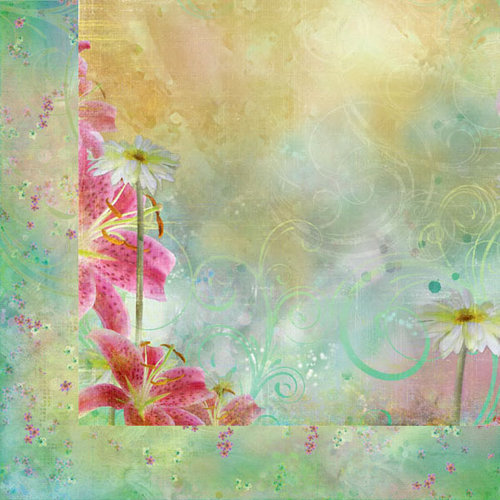 Prima - Firefly Collection - 12 x 12 Double Sided Paper - Aglow