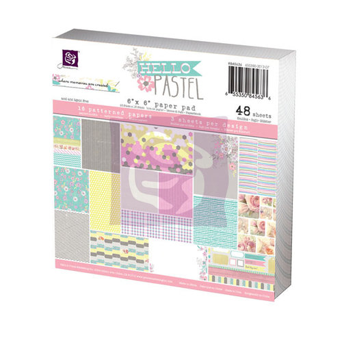 Prima - Hello Pastel Collection - 6 x 6 Paper Pad