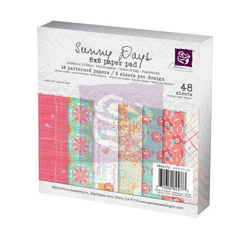 Prima - Sunny Days Collection - 6 x 6 Paper Pad