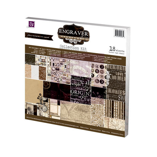 Prima - Engraver Collection - 12 x 12 Collection Kit
