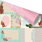Prima - Anna Marie Collection - 12 x 12 Double Sided Paper - Sewing Basket