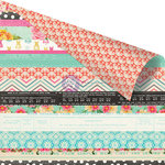 Prima - Anna Marie Collection - 12 x 12 Double Sided Paper - Jelly Roll