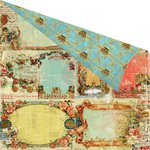 Prima - Cigar Box Secrets Collection - 12 x 12 Double Sided Paper - Corona