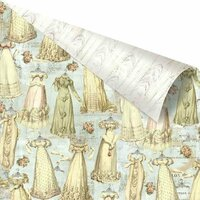 Prima - Debutante Collection - 12 x 12 Double Sided Paper - Gowns Galore