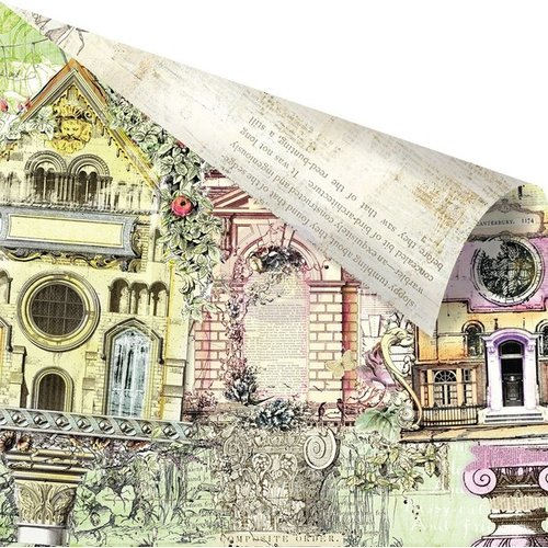Prima - Garden Fable Collection - 12 x 12 Double Sided Paper - Garden Fable