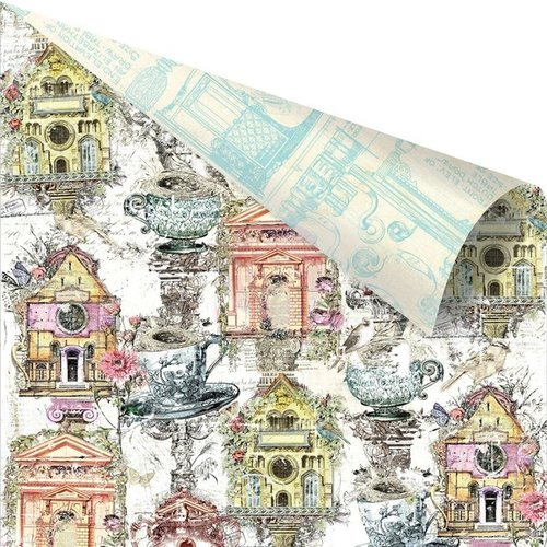 Prima - Garden Fable Collection - 12 x 12 Double Sided Paper - Birdhouse