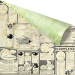 Prima - Garden Fable Collection - 12 x 12 Double Sided Paper - Porcelainware
