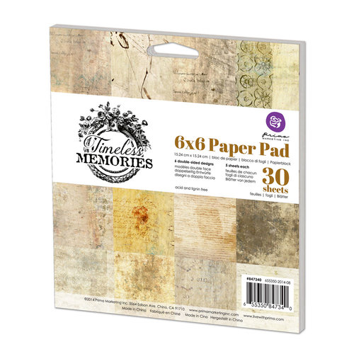 Prima - Timeless Memories Collection - 6 x 6 Paper Pad