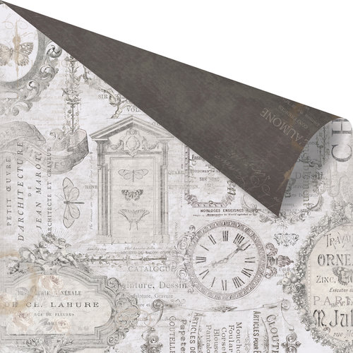 Prima - Salvage District Collection - 12 x 12 Double Sided Paper - Chateau