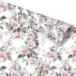 Prima - Rose Quartz Collection - 12 x 12 Double Sided Paper - Rose Dreams with Foil Accents
