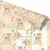 Prima - Heaven Sent 2 Collection - 12 x 12 Double Sided Paper - Oh Dear with Foil Accents