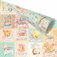 Prima - Heaven Sent 2 Collection - 12 x 12 Double Sided Paper - First Everything with Foil Accents
