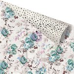 Prima - Zella Teal Collection - 12 x 12 Double Sided Paper - Stone Rose with Foil Accents