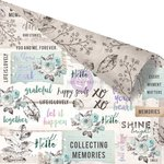 Prima - Zella Teal Collection - 12 x 12 Double Sided Paper - Collect Memories with Foil Accents