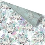 Prima - Zella Teal Collection - 12 x 12 Double Sided Paper - Zella Teal with Foil Accents