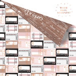 Prima - Amelia Rose Collection - 12 x 12 Double Sided Paper - Ticket Collector with Foil Accents