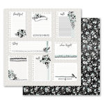 Prima - Flirty Fleur Collection - 12 x 12 Double Sided Paper - Little Notes with Foil Accents