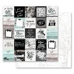 Prima - Flirty Fleur Collection - 12 x 12 Double Sided Paper - So Lovely with Foil Accents