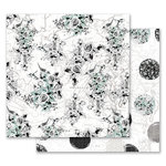 Prima - Flirty Fleur Collection - 12 x 12 Double Sided Paper - Traveling Florals with Foil Accents