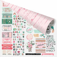 Prima - Havana Collection - 12 x 12 Double Sided Paper - Love From Havana with Foil Accents