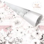 Prima - Cherry Blossom Collection - 12 x 12 Double Sided Paper - Beautiful Remarks with Foil Accents