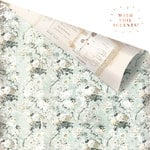 Prima - My Prima Planner Collection - Travelers Journal - Vintage Floral - 12 x 12 Double Sided Paper - Misty Fields With Foil Accents