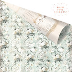 Prima - My Prima Planner Collection - Travelers Journal - Vintage Floral - 12 x 12 Double Sided Paper - Misty Fields