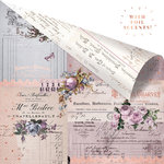 Prima - Lavender Collection - 12 x 12 Double Sided Paper - Through the Years with Foil Accents